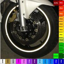 BLACK REFLECTIVE MOTORCYCLE CAR RIM STRIPES WHEEL DECALS TAPE STICKERS 3M VINYL