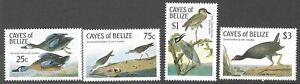 CAYES OF BELIZE :1985 J.J.Audubon Birth Anniversary  set  SCOTT 22/25 MNH