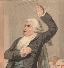 Gravure XIXe L'Orateur Révolution Française Orator 1843