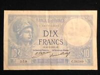France 1916-18 Issue 10 Dix Francs Banque de France AE 26 2 1931 AE. Pick#73d VF