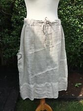 Vintage 'Two Sisters' 100% linen laden look balloon skirt -med