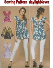 Women V-Neck, Gathered Top Sewing Pattern 7572 McCall's New Size 14 -22 #i