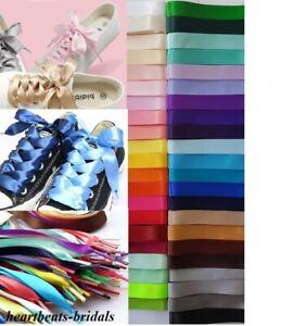 1,8 cm Schnürsenkel Satin Band Schleife Flachsenkel 43 Farben für Sneaker 80 cm