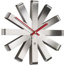30cm TOP DESIGN - Horloge murale acier inox Montre pour salle de bain cuisine