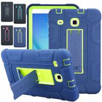 Tablet For Samsung Galaxy Tab E 9.6 8.0 Full Body Rugged Hybrid Armor Hard Case