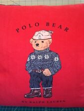 "RARE Set of 2 POLO BEAR PILLOWS-by-Ralph-Lauren 18"" Cushions"