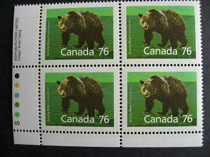 Canada Grizzly Bear Ut 1178i MNH plate block, lower left corner