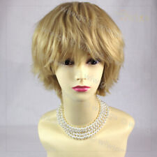 STRIKING Blonde Short Spikey Style Lady Wig Cosplay Party WIWIGS UK