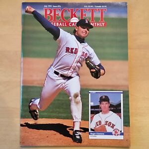 Beckett Baseball Card Monthly #76 July 1991 Clemens Red Sox Robinson Orioles
