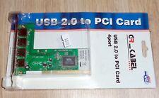 4 veces USB 2.0 tarjeta para bus PCI