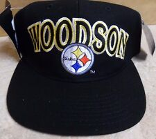 PITTSBURGH STEELERS  VINTAGE SNAP BACK HAT ROD WOODSON STEELERS STARTER HAT