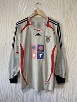 SL BENFICA 2006 2007 GOALKEEPER FOOTBALL SHIRT SOCCER JERSEY sz L ADIDAS 060656