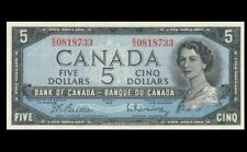 1954 BANK OF CANADA QEII $5 GEM UNC  **Beattie & Rasminsky** <BC-39b>