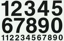 PLANCHE A4 TUNING QUAD 22 AUTOCOLLANT CHIFFRE NOIR DIM. 7 X 4,5 CMS
