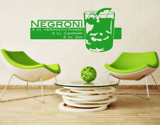 Negroni Coktail - highest quality wall decal sticker