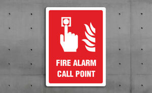 FIRE SIGN - FIRE ALARM CALL POINT -  VARIOUS SIZES SIGN & STICKER OPTIONS