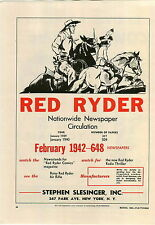 1942 PAPER AD Red Ryder Comic Strip Comics Radio Daisy Air Rifle Gene Autry