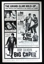 The Big Caper-1957 Rory Calhoun Crime Movie Pressbook-vintage ads, poster photos