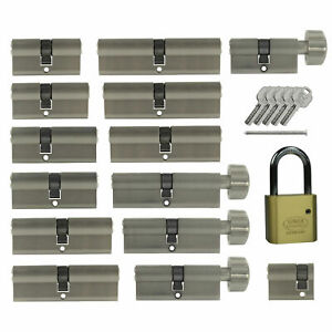 Profil Knauf Zylinder Schloss nach Wunsch kombinieren Schließanlage 3 Schlüssel