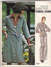 Vogue Designer Sewing Pattern 2974, Carol Horn, Dress,Shirt Pants Size 12, Uncut