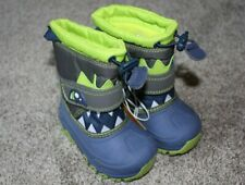 Denali Infant Boys Blue Green Gray Face Winter Snow Boots Size 6 18-24 m 2T NWT