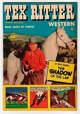Fawcett TEX RITTER #16 April 1953  Vintage Comic