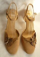 NEW Clarks Beige Mary Jane Slingback Suede Shoes Size 2.5