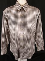 Brooks Brothers Men's Long Sleeve Gingham Button Down Shirt Size Medium Non-Iron