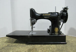 Vintage Singer Model 221 Featherweight Portable Sewing Machine Tested & Working
