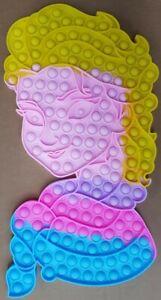 Girls 40cm Princess Elsa Push it Bubble Pop Fidget Sensory Toy ADHD Stress Toys