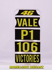 1:12 Pit board pitboards Valentino Rossi 106 Victories Assen 2013 no minichamps