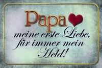 Papa Mein Held Letrero de Metal Placa Signo Arqueado Tin 20 X 30CM