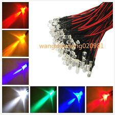 20pcs LED Pre Wired 3mm 5mm 10mm 5V 12V 24V White Warm Red Blue Green Amber RGB