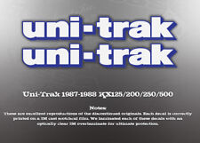 KAWASAKI 1987-88 UNI-TRAK KX125 KX250 KX500 DECALS