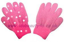 2 PINK BATH SHOWER GLOVES GLOVE EXFOLIATE SCRUB 1 polka dot pattern 1 light pink