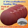 "50x 5"" PSA Self Adhesive 80-320 Grit Sand Disc Stick On Sandpaper Sheet Peel"