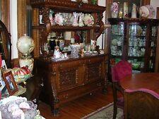 fabulous antique quartersawn oak sideboard lion griffin cupid better than horner