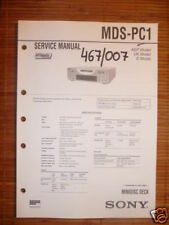 Service Manual Sony MDS-PC1 Mini disc Deck,ORIGINAL