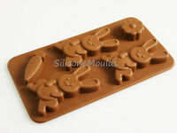 Bunny Rabbit Carrot Easter Chocolate Silicone Mold BROWN Children Cake Novelty
