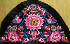Antique miao hmong tribal flower camber delicate machinemade embroidery 23030