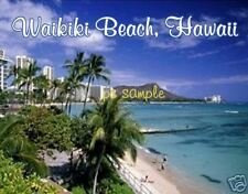 HAWAII - WAIKIKI BEACH - Travel Souvenir Flexible Fridge Magnet