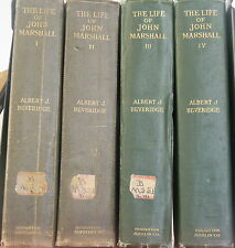 The Life of John Marshall by Albert Beveridge 1916 1st Ed. Complete in 4 Vol. $