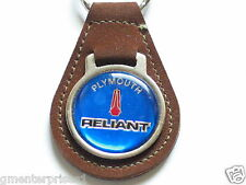 Plymouth Reliant Keychain Suede Like? Key Chain Brown