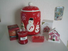 Hallmark 2011 VIP Complete Set-Cookie Jar,Ornament,Candle & Candy