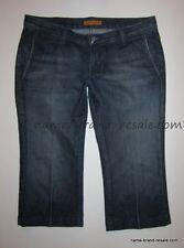 JAMES DESIGNER Denim Jeans WOMENS 30 Dark Wash TROUSER Crop Capri Capris