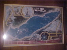 Lake Erie Ship Wreck Map Print