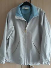 Regatta Waterproof Jacket size 14 Ladies mac cream blue great outdoors