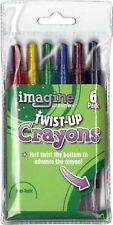 New Imagine Brand Twist-Up Crayons (6 per Package) - Artist, Drawing