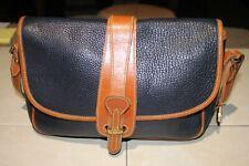 Dooney & Bourke Handbag (Made in USA) Blue & Brown AWL Pebbled Leather Bag.