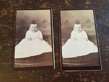 A Pair Of Matching Carte De Vistes (CDV's) Of A 5 Month Old Baby Boy